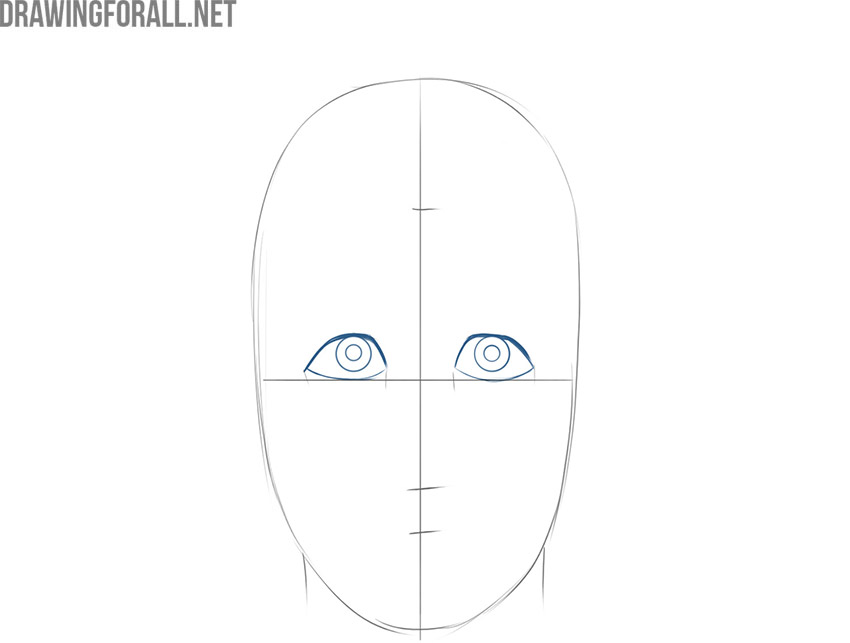 how to draw a cartoon face step by step with pencil
