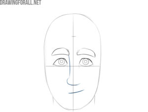 how to draw a cartoon male face