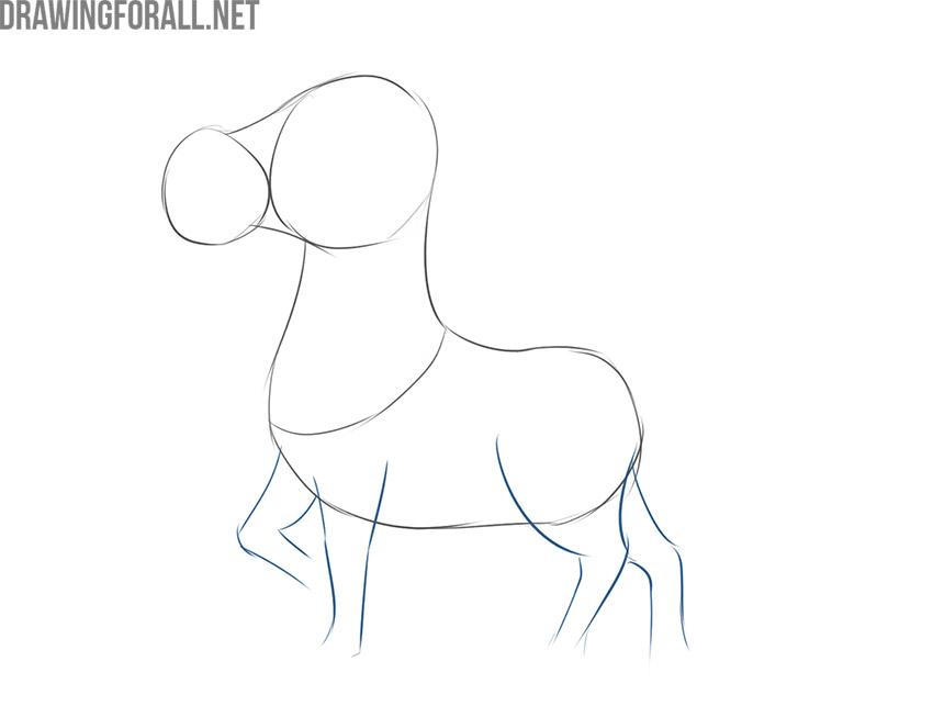 how to draw a cartoon zebra step by step