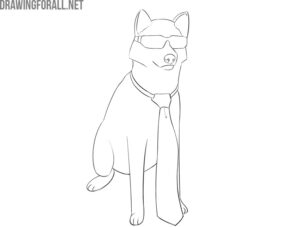 how to draw a cool dog