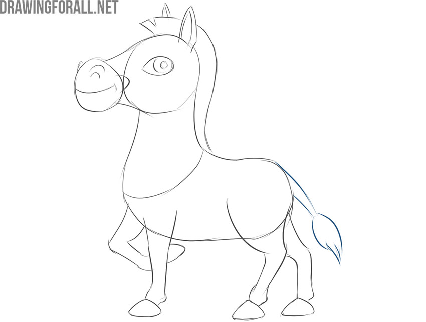 how to draw a cute cartoon zebra step by step