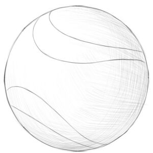 how to draw a dog ball