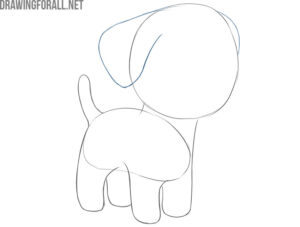 how to draw a dog simple and cute