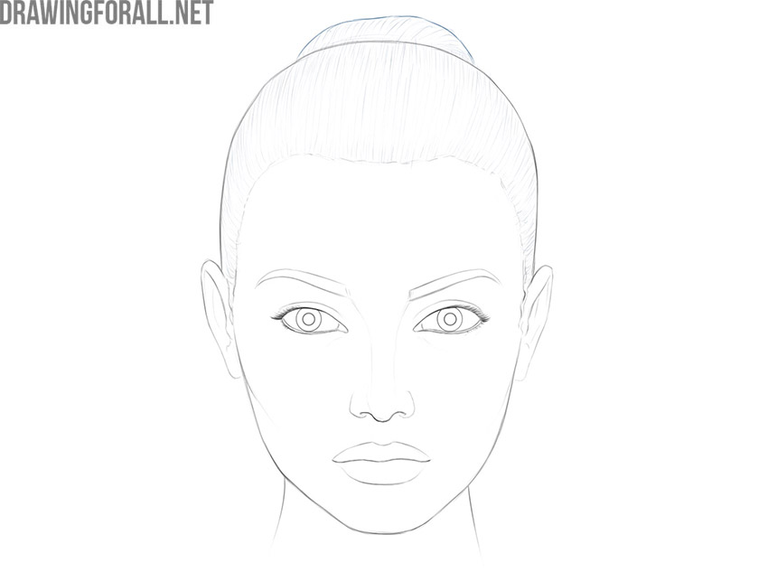 how to draw a female face for beginners