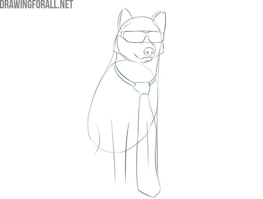 how to draw a really cool dog