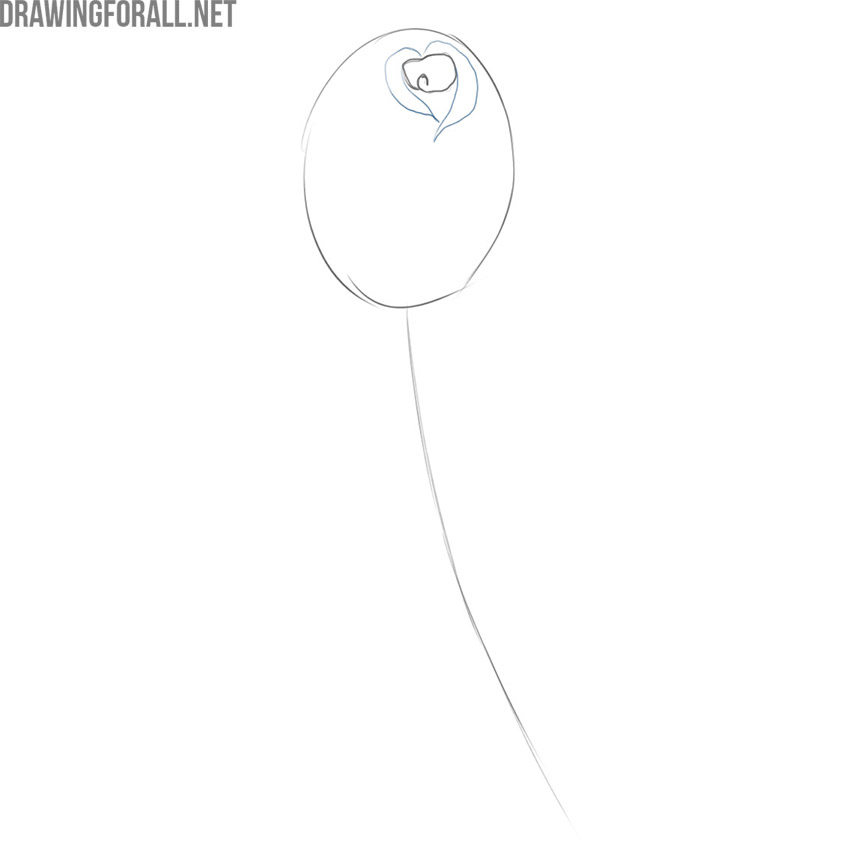 how to draw a simple and beautiful rose