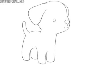 how to draw a simple dog