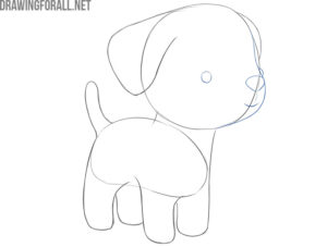 how to draw a simple dog step by step