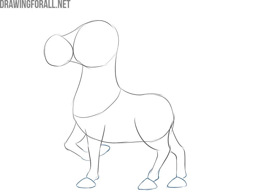 how to draw an easy cartoon zebra