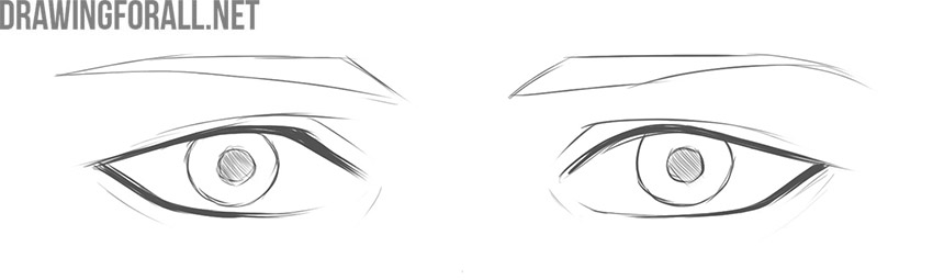 how to draw anime boy eyes