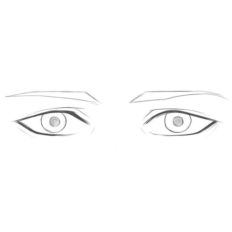 How to Draw Anime Boy Eyes
