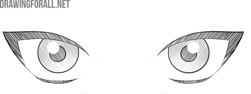 how to draw anime female eyes