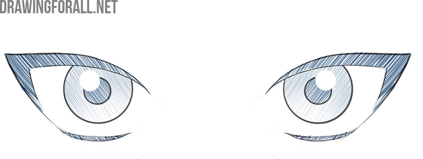 how to draw anime female eyes easy