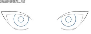 how to draw anime female eyes step by step