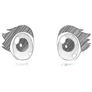 how to draw chibi eyes