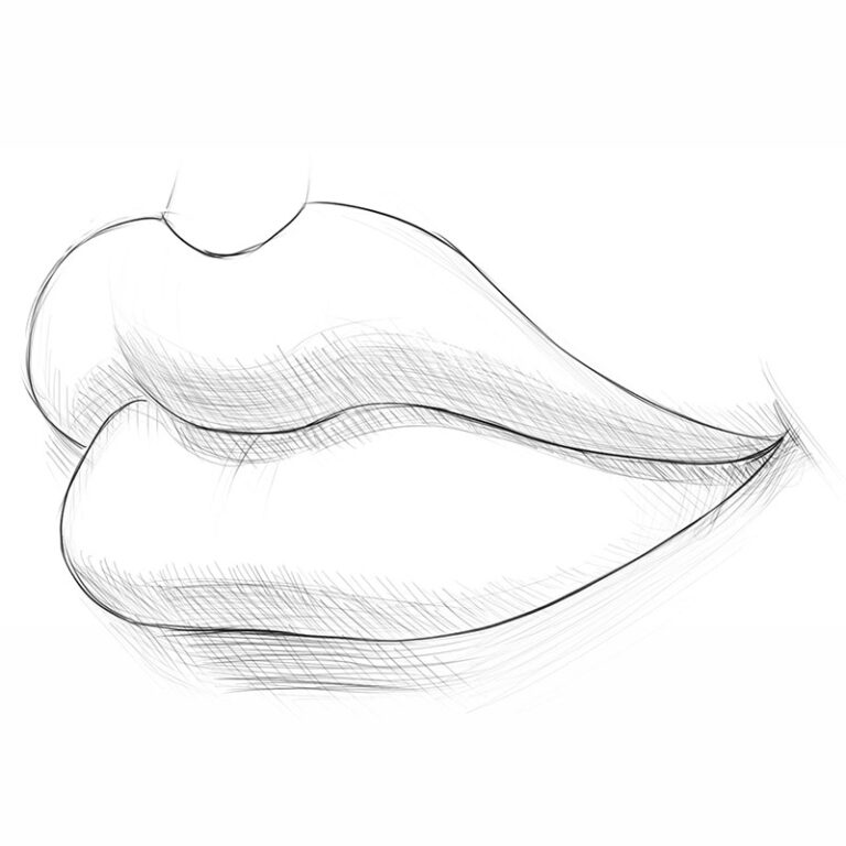 How to Draw Lips From the 3/4 View